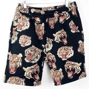 Publish Brand Jacquard Tiger Head Shorts 36